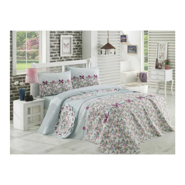Zestaw narzuty na łóżko, prześcieradła i 2 poszewek na poduszki Dorian, 200x235 cm