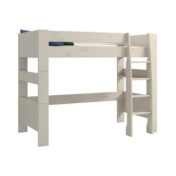 For Kids gyerek, fehér emeletes ágy borovi fenyőfából, magasság 164 cm - Steens