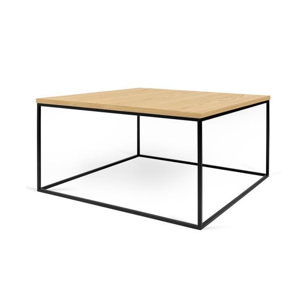 Konferenční stolek s černými nohami TemaHome Gleam, 75 cm