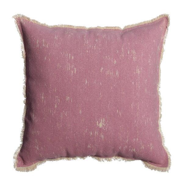 Růžový polštář Denzzo Boho, 60x60cm