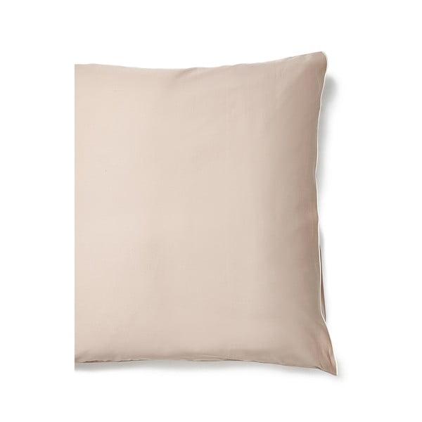 Béžový povlak na polštář z bavlněného saténu Casa Di Bassi Basic, 65x65cm