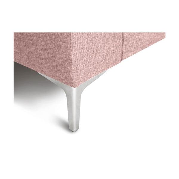 Růžová rohová čtyřmístná pohovka Cosmopolitan Design Cartegena, levý roh