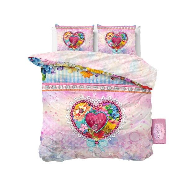Lenjerie de pat din bumbac Dreamhouse So Cute Liselot, 240 x 220 cm