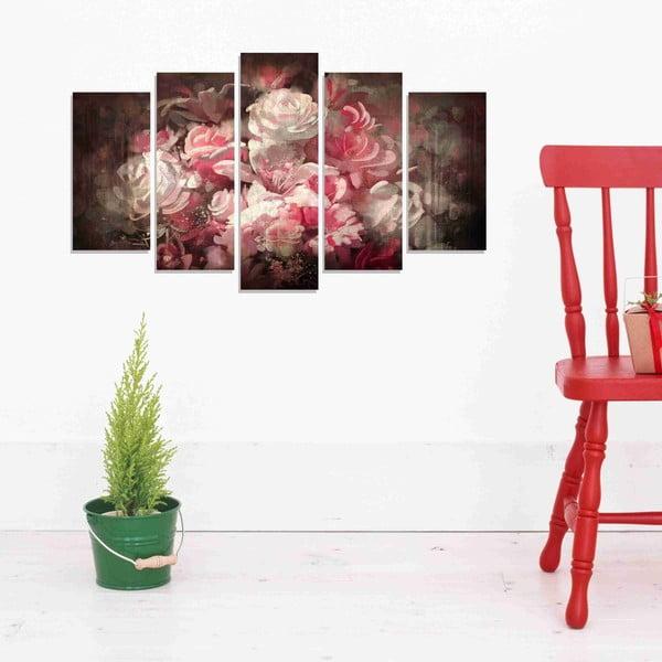 5dílný obraz Roses