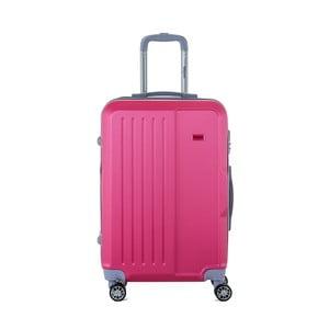 Růžový cestovní kufr na kolečkách s kódovým zámkem SINEQUANONE Chandler, 71 l