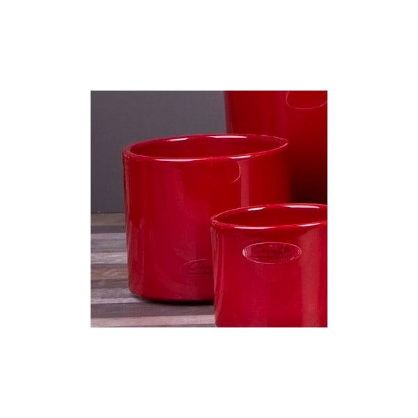 Sada 2 červených květináčů Ovale, 12 cm