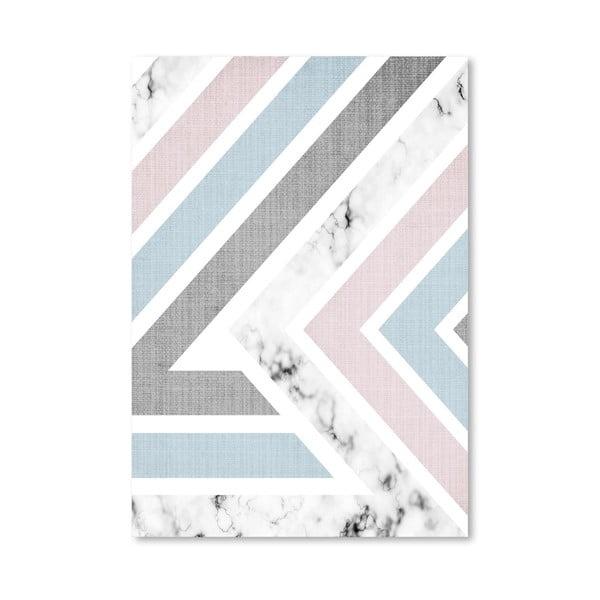 Plakát Geometric Pink Blue