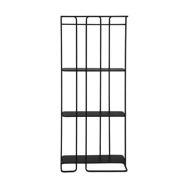 Černý policový regál La Forma Calen 72 x 167 cm