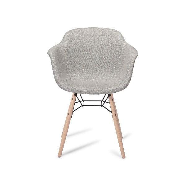 Šedá jídelní židle s nohami z bukového dřeva Furnhouse Flame