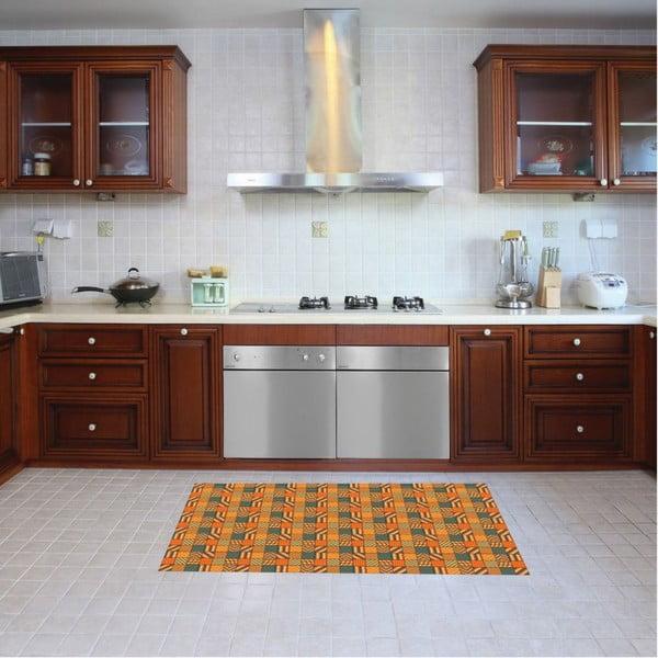 Vinylový koberec Kalia Orange, 52x120 cm