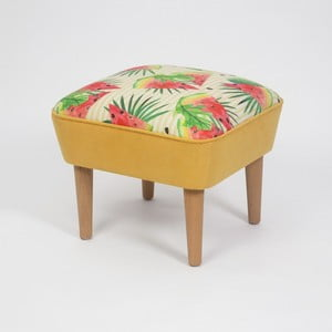 Taburet s dřevěnými nohami Damo Sandia, 45x45cm