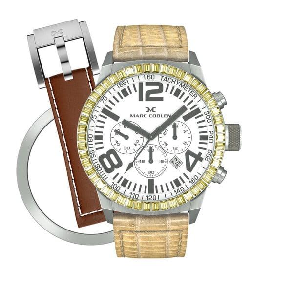 Dámské hodinky Marc Coblen s páskem a kroužkem navíc P69