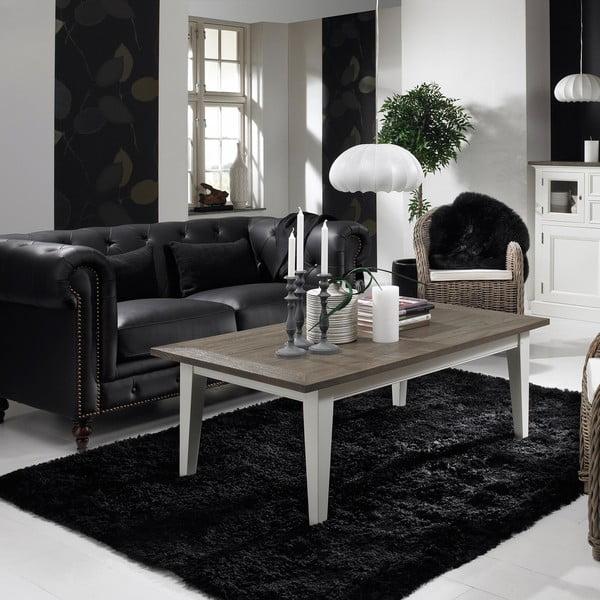 Bílý konferenční stolek Canett Skagen Coffee, 140 cm