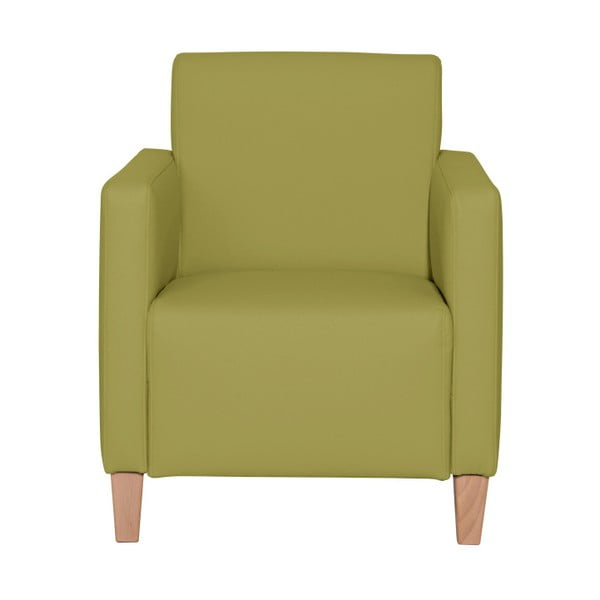 Zelené křeslo Max Winzer Milla Leather Apple