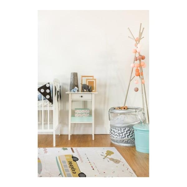 Bavlněný kobereček Little Nice Things Explore, 140 x 90 cm