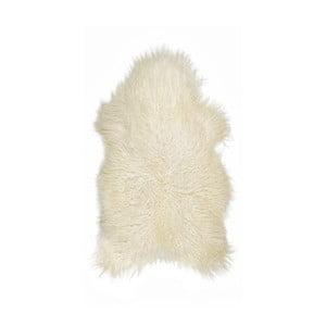Bílá ovčí kožešina s dlouhým chlupem Arctic Fur Ptelja, 100 x 55 cm