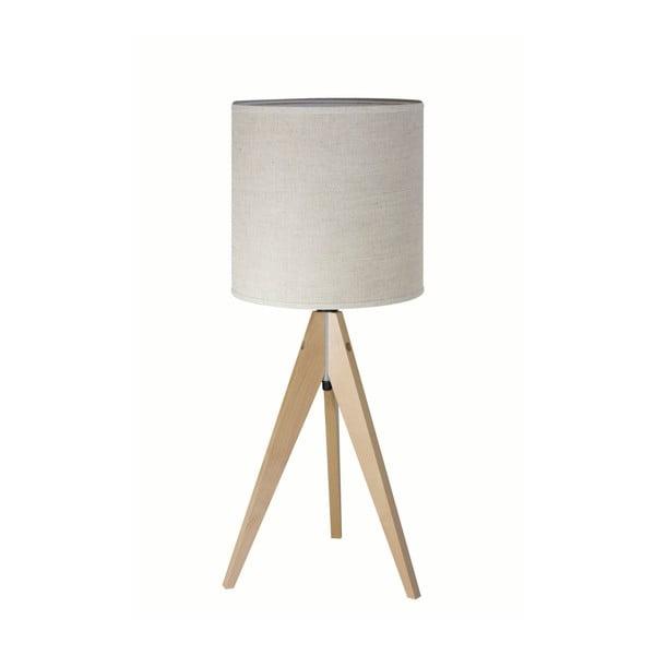 Krémová stolní lampa 4room Artist, bříza, Ø 25 cm