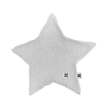 Pernă din in în formă de stea pentru copii BELLAMY Stripes, gri de la BELLAMY