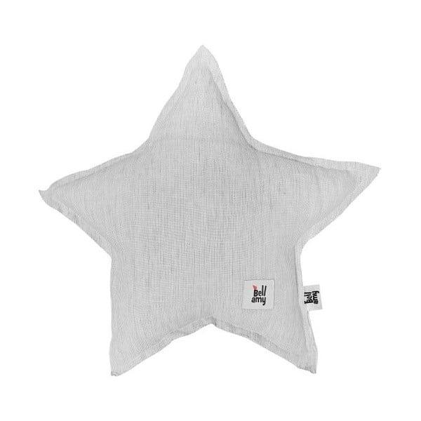 Pernă din in în formă de stea pentru copii BELLAMY Stripes, gri