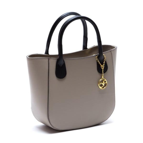 Šedo-hnědá kožená kabelka Isabella Rhea no. 3031