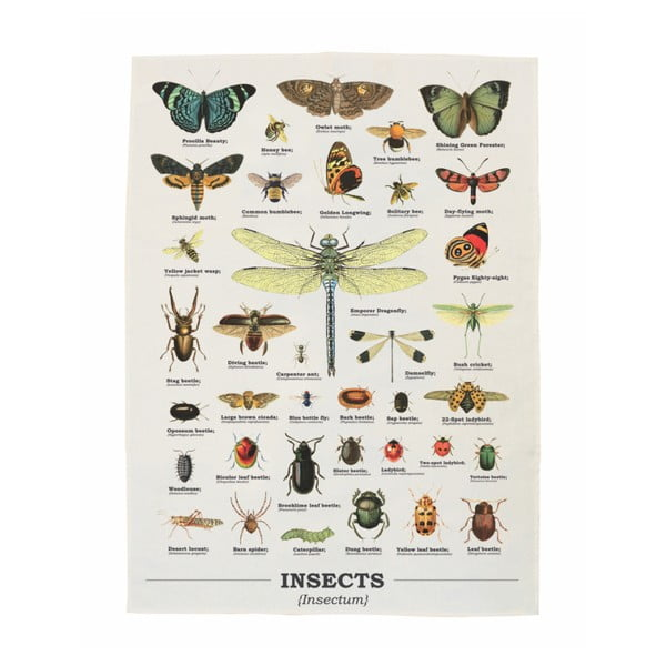 Utěrka z bavlny Gift Republic Insects, 50 x 70 cm