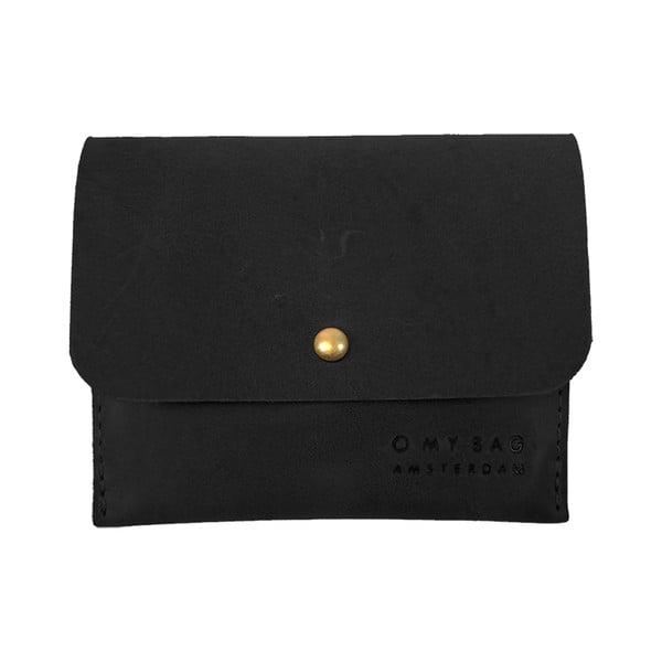 Kožené pouzdro na vizitky O My Bag, černé