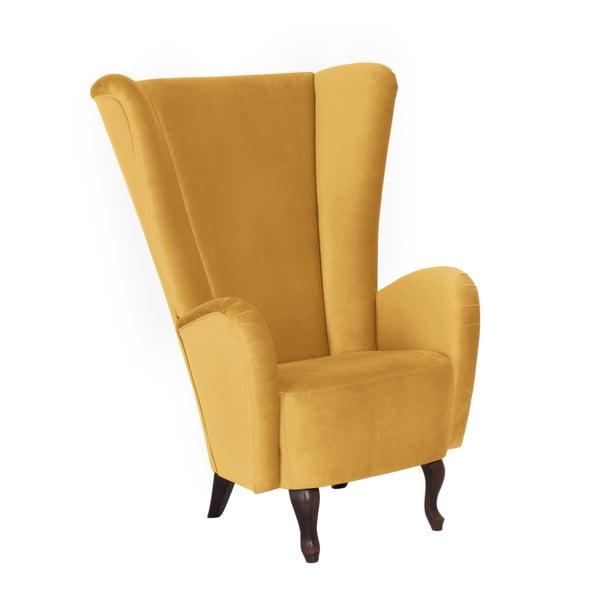 Žluté křeslo Max Winzer Aurora Velvet