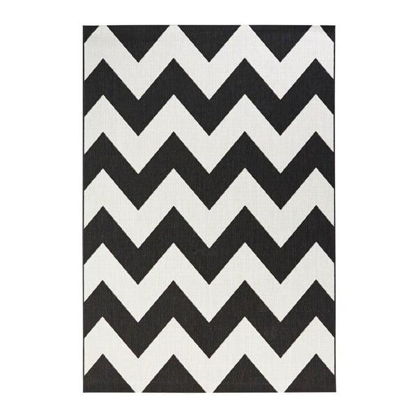 Čierno-biely koberec vhodný aj do exteriéru Unique, 120×170cm
