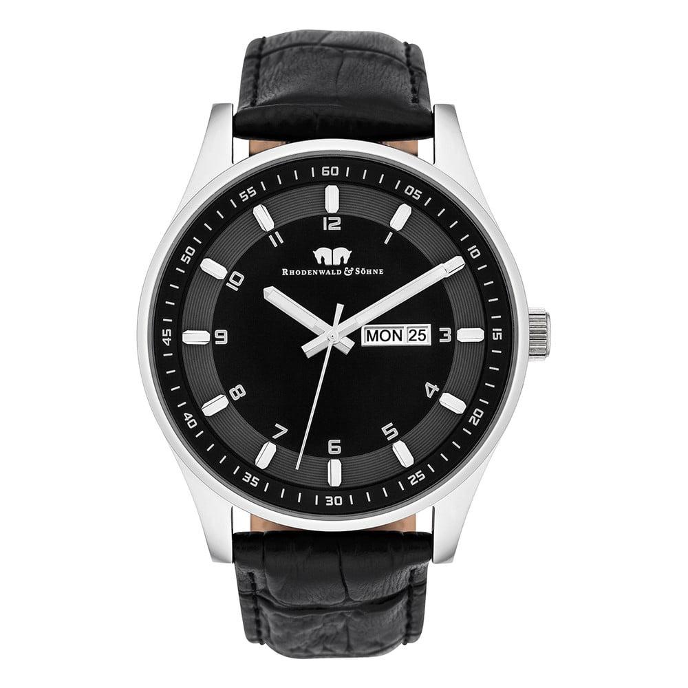 Černé pánské hodinky s černým ciferníkem Rhodenwald & Söhne Couragian