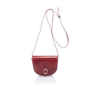 Červená kožená kabelka Giorgio Costa Calf