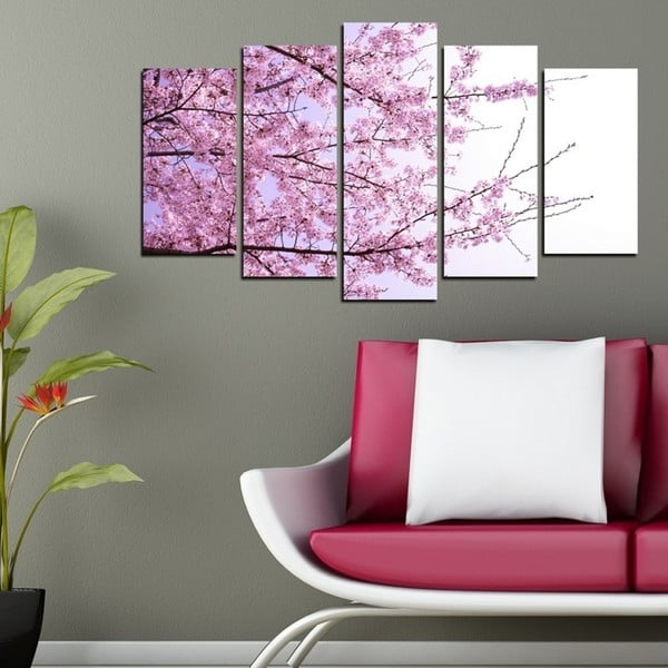 Obraz wieloczęściowy 3D Art Pink Touche, 102x60 cm