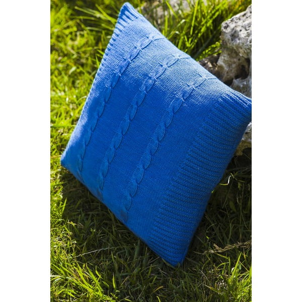 Polštář s výplní Fancy Blue, 43x43 cm