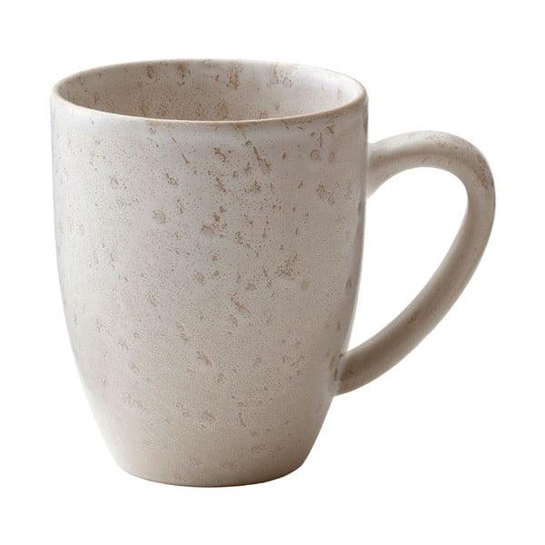 Matte Cream Basics krémszínű agyagkerámia csésze füllel, 300 ml - Bitz
