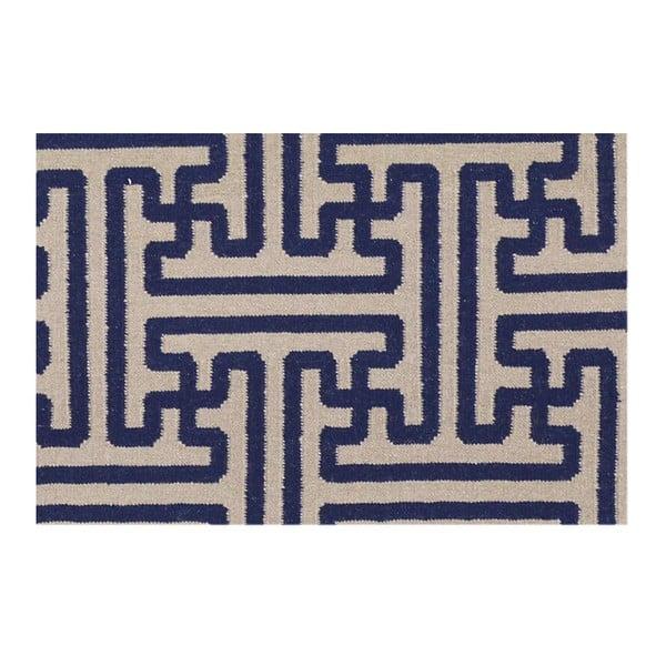 Ručně tkaný koberec Kilim JP 11188 Blue, 110x170 cm