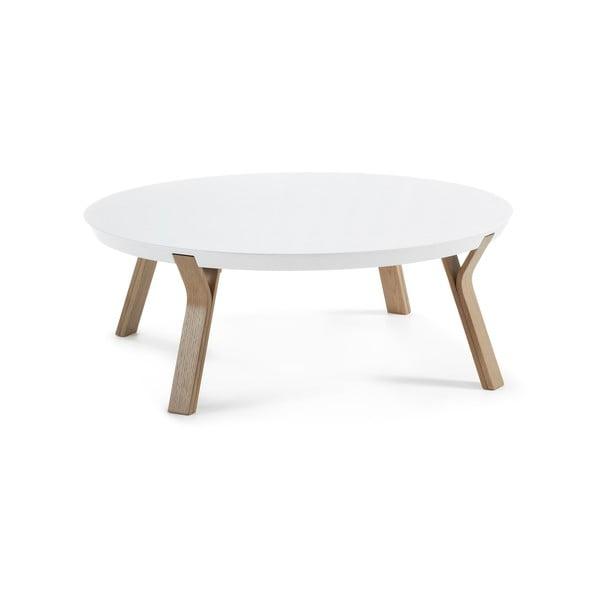 Bílý konferenční stolek La Forma Solid, Ø 90 cm