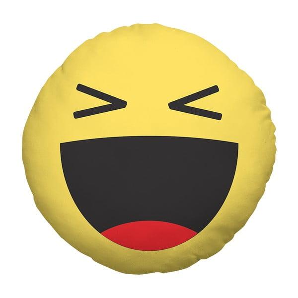 Polštář Emoji Laugh, 39 cm
