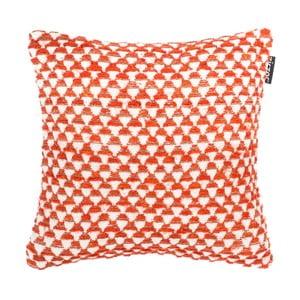 Oranžový vzorovaný polštář ZicZac Pyramide, 45x45cm