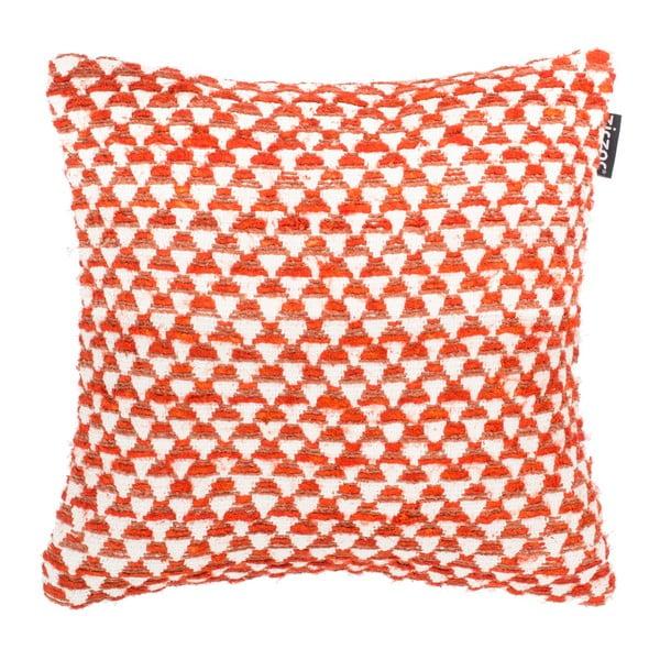 Oranžová vzorovaná obliečka na vankúš Tiseco Home Studio Pyramide, 45 x 45 cm