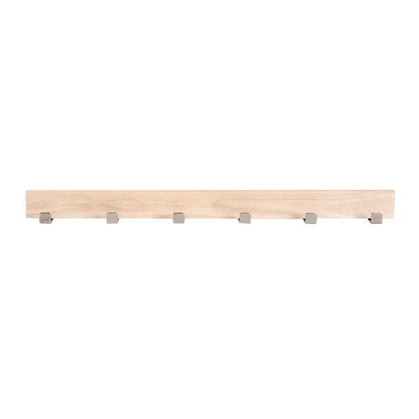 Cuier mat din lemn de stejar cu 6 cârlige Folke Sol