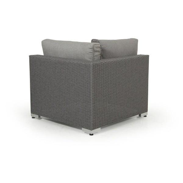 Rohový díl šedé zahradní sedačky Brafab Ninja