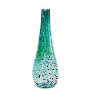 Skleněná váza Flower 50-55 cm, tyrkysová
