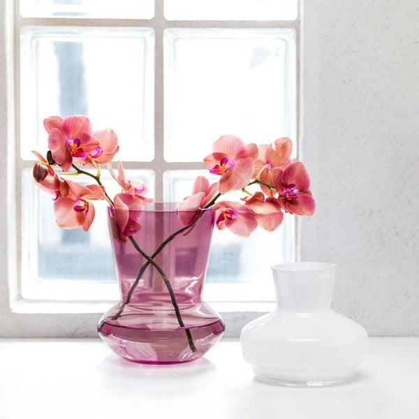 Bílo-vínová dvojdílná váza Sagaform Duo