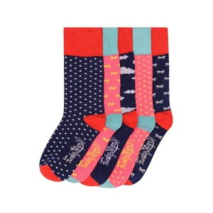 Sada 5 párů barevných ponožek Funky Steps Strawberries, vel. 35-39
