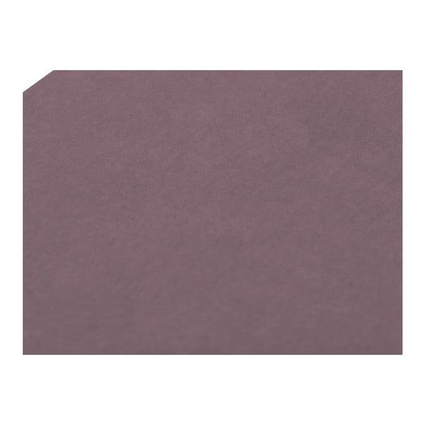 Levandulově fialový otoman Mazzini Sofas Ancona, 200 x 46 cm