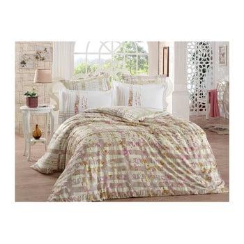 Lenjerie de pat cu cearșaf din bumbac satinat Lorenza, 200x220cm de la Hobby