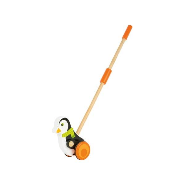 Drevená hračka na tyči Legler Animal Penguin
