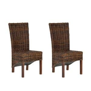 Sada 2 ratanových židlí Safavieh Alexander