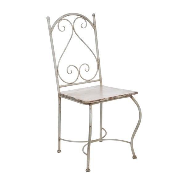 Kovová židle Old Cream