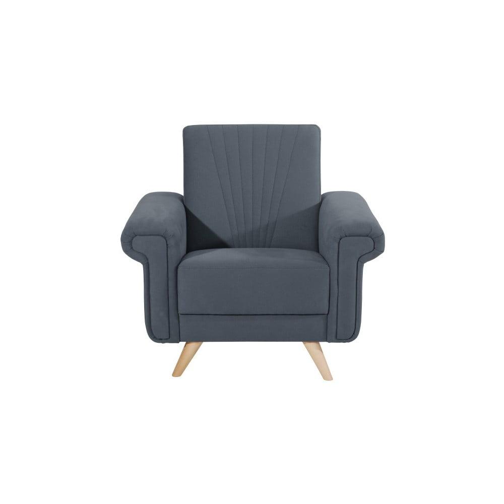 fotoliu max winzer jannes gri albastru bonami. Black Bedroom Furniture Sets. Home Design Ideas