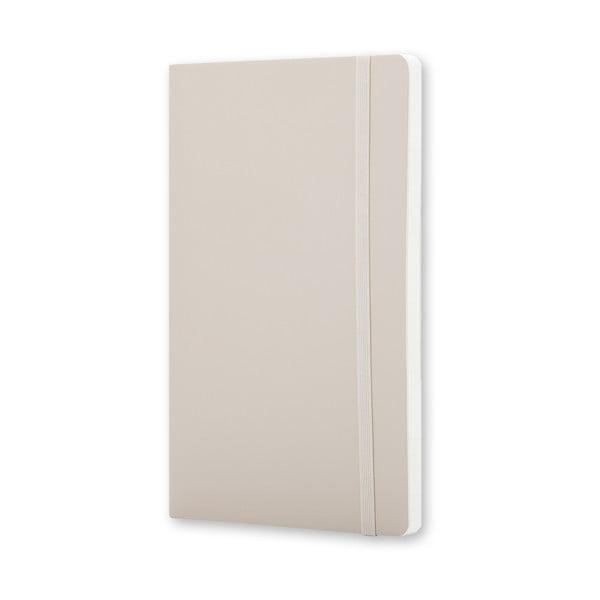 Velký béžový zápisník Moleskine Soft, bez linek